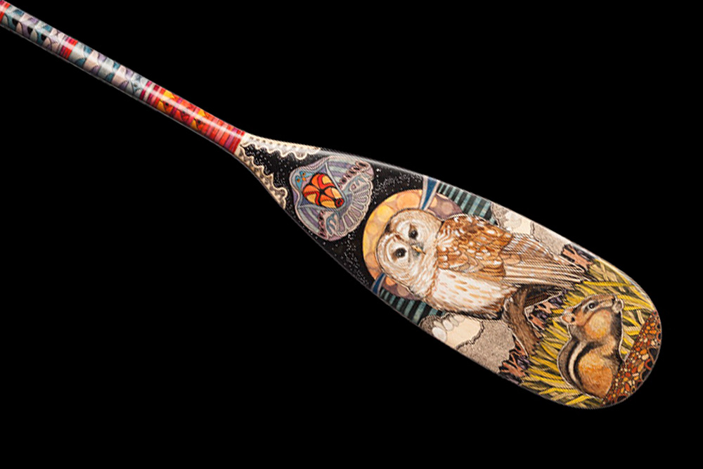 Hand Painted Canoe Paddle 37 By John Doherty